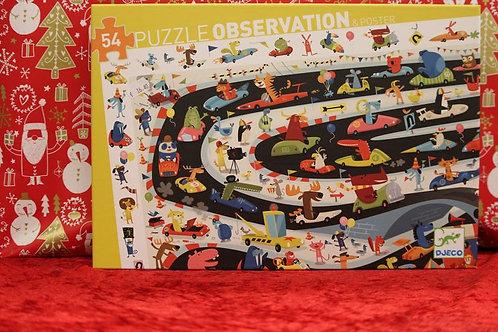 Puzzles observation 54 pcs Rallye Automobile
