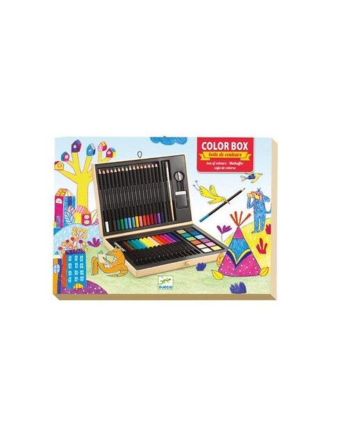 Color box  boite de couleurs 47 pièces