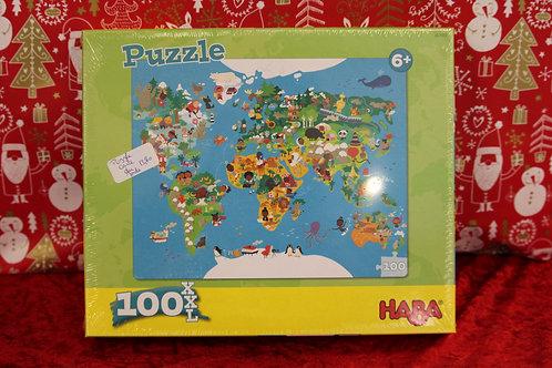 Puzzle 100 pcs - Carte du monde
