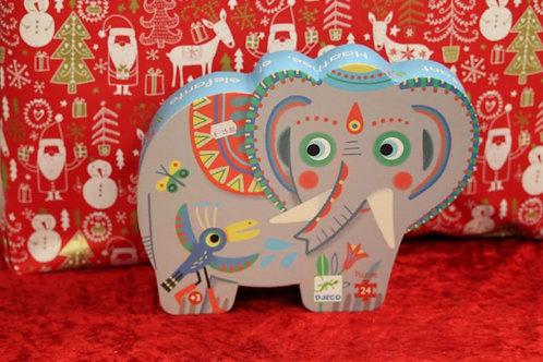 Puzzle 24 pcs Haathee éléphant d'Asie