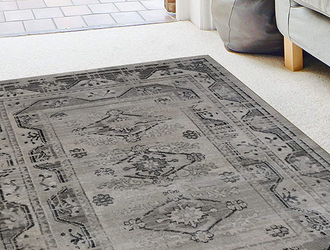 Antique Persian-Style Rug - Grey