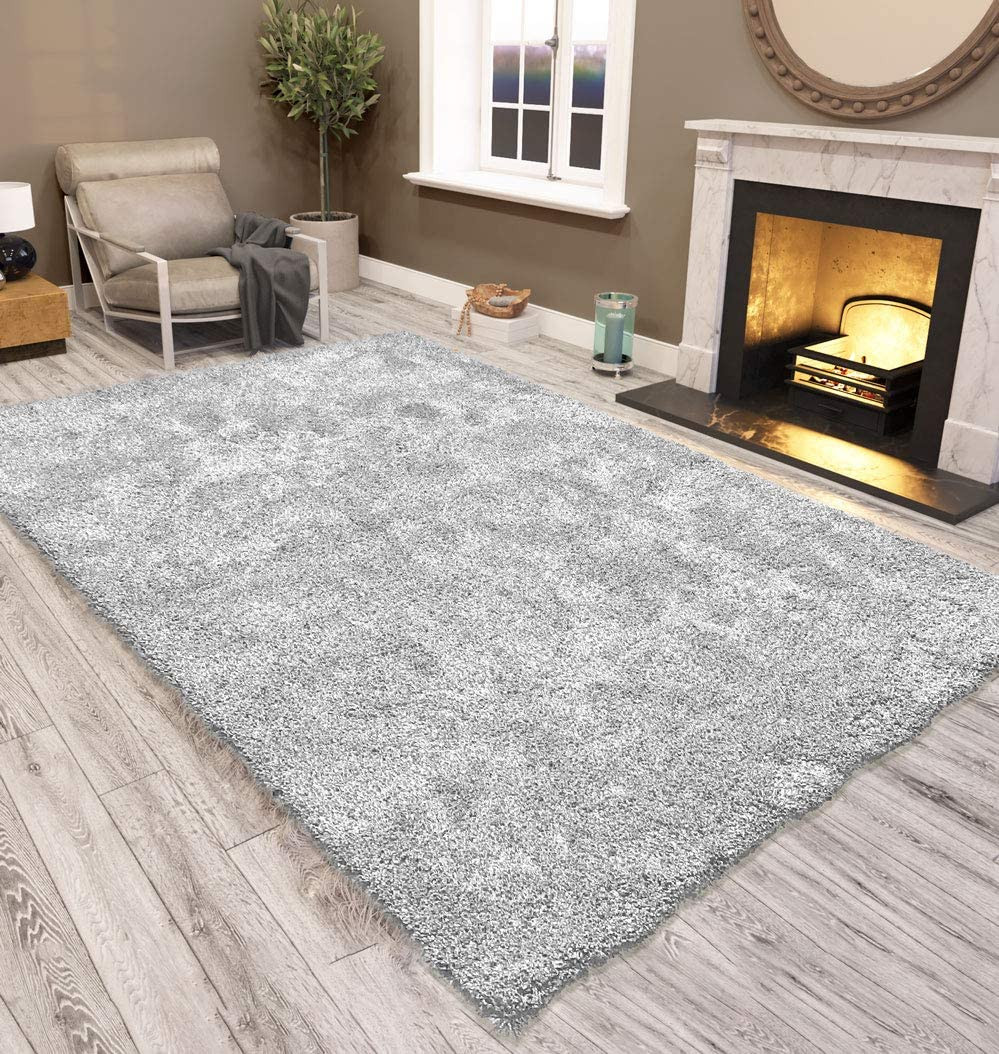Silver Grey washable rug