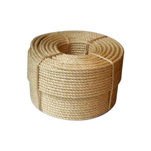 Wound up jute rope