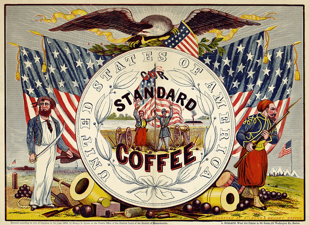 United States of America Vintage Standard Coffee Poster