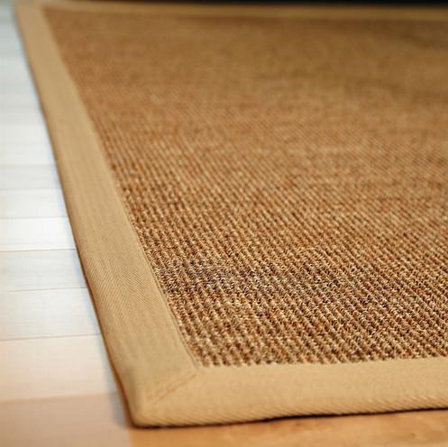 jute rug on hardwood floor