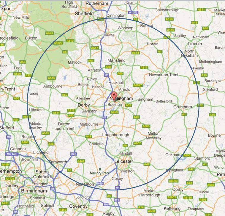 b2b data - postcode radius search