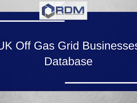 UK Off Gas Grid Businesses Database