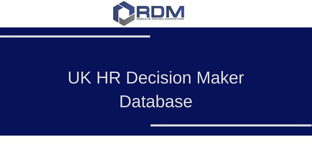 UK HR Decision Maker Database