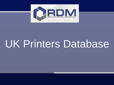 UK Printers Database