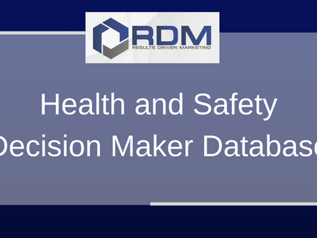 Health and Safety Decision Maker Database