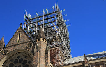 Scaffold project on church