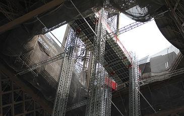 Scanclimber Mast Climbers on Eiffel Tower
