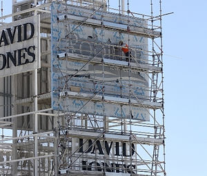 Scaffold for signage
