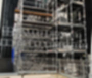 Highrise building using scaffold
