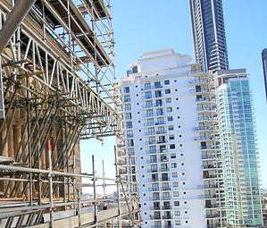 Scaffold on Brisbane City skyscraper