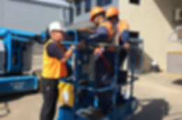 Training instruction for boom lift