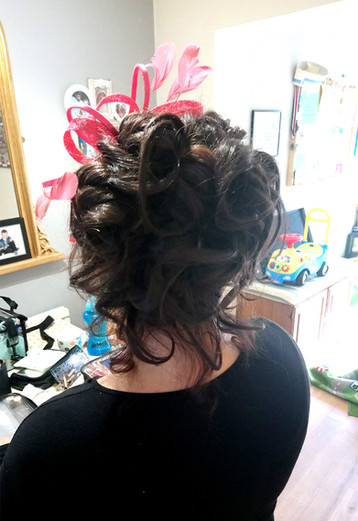 Special event hair up