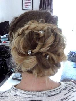 Prom braided hair up