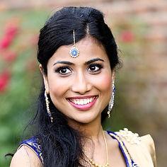 Asian bride asian hair style darker skin strong eyes and lip makeup