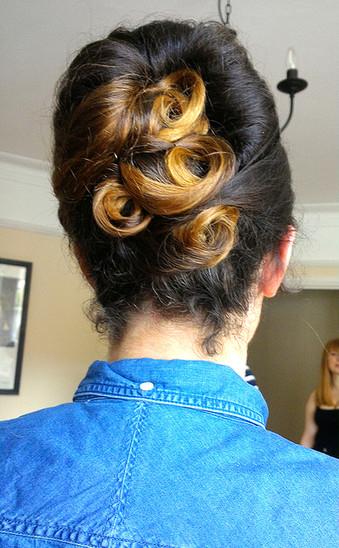 1950's hair up