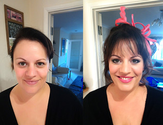 Before and after event makeup and hair
