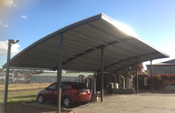 curved roof for car wash in young