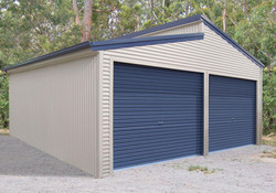 Garage with Altered roof.