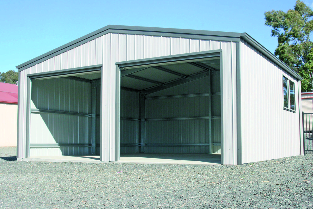 Double Roller Door Garage
