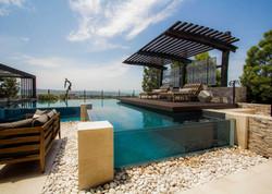 splash signature, glass pool