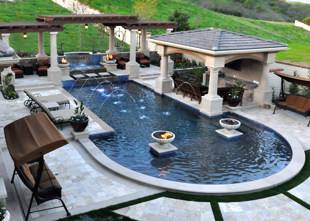 Grecian Style Pool with Slope