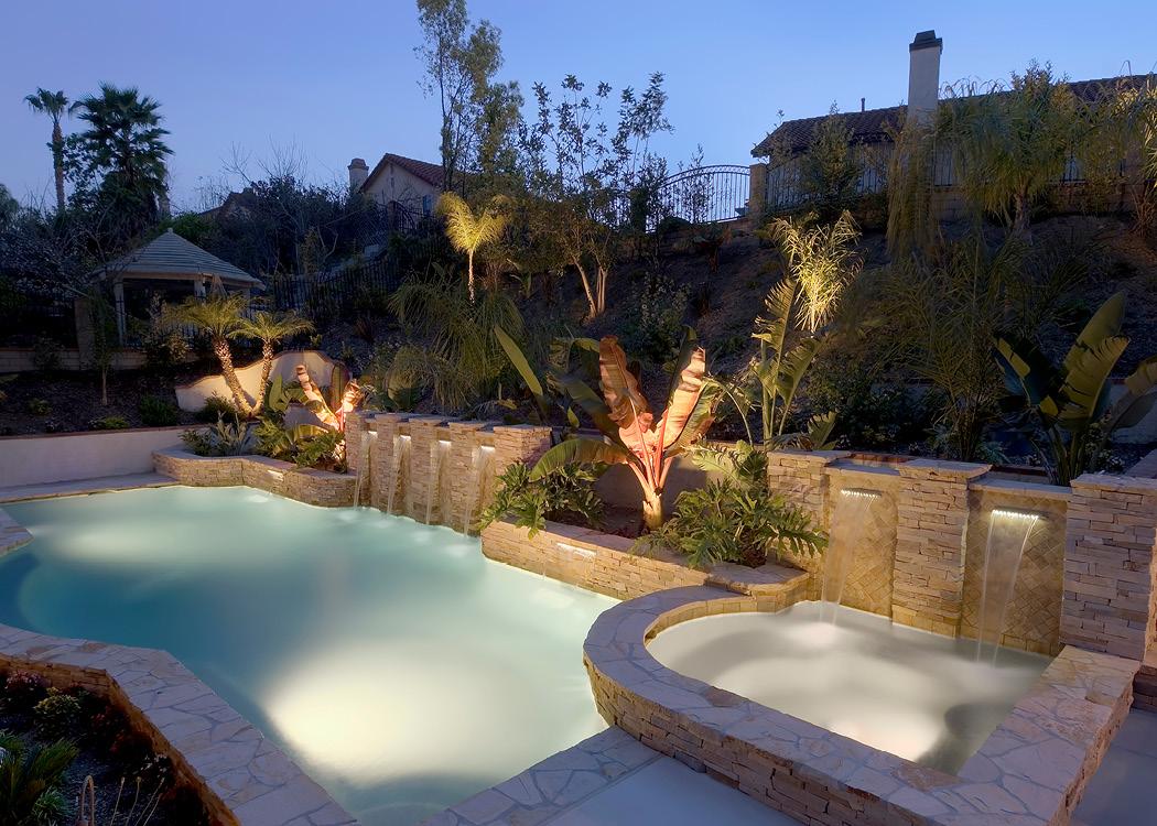 Elegant Pool Built into Slope
