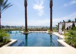 luxury pool with cabana
