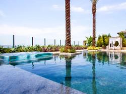 Custom swimming pool, acrylic spa