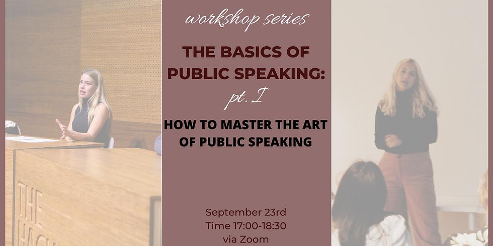 Public Speaking pt. 1