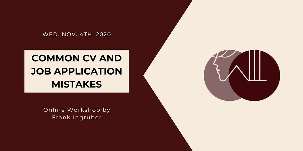 Common CV and Job Application Mistake