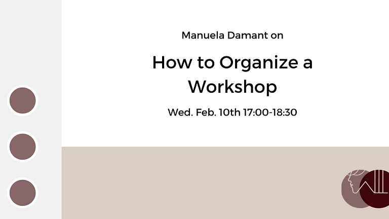 How to Organize a Workshop