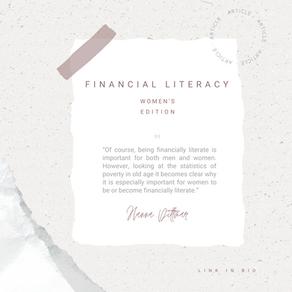 Financial Literacy – Women's Edition