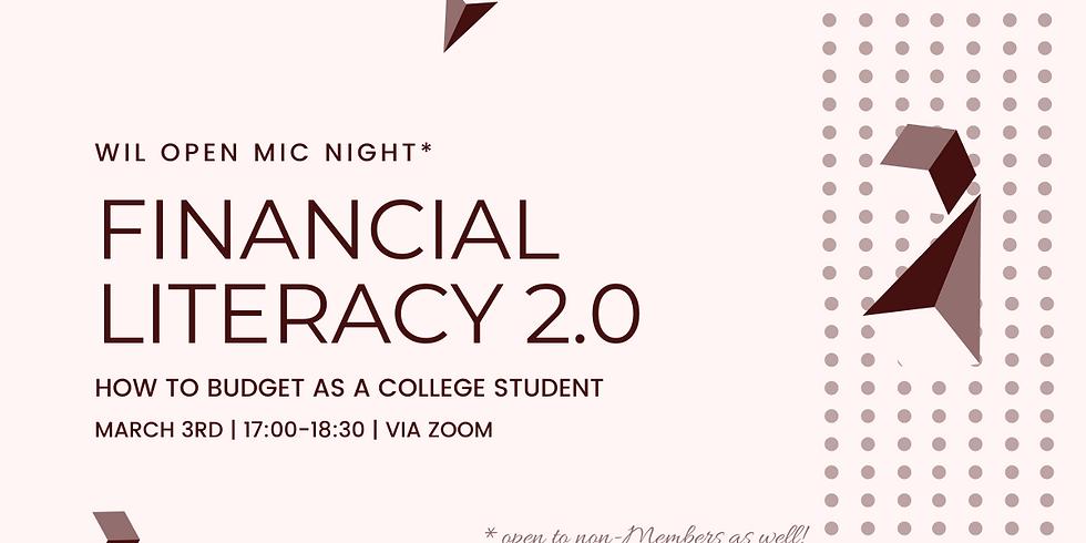 Financial Literacy 2.0: Budgeting Open Mic Night