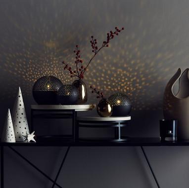 QVC K by Kelly Hoppen - Set of 3 Illuminated Spheres