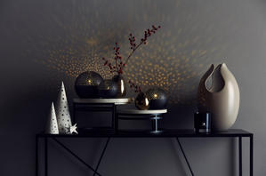 Set of 3 Illuminated Spheres. Black
