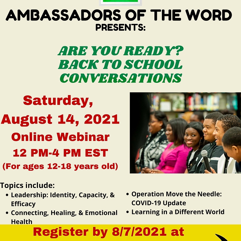 AOW Presents: Are You Ready? Back to School Conversations