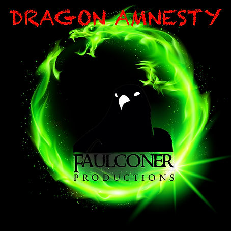 Black Falcon from Faulconer Productions inside green dragon with tile Dragon Amnesty