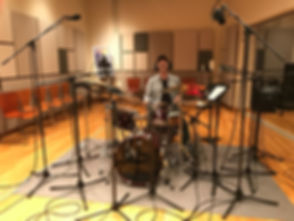 Jose Rossy on drums at CakeMix Recording