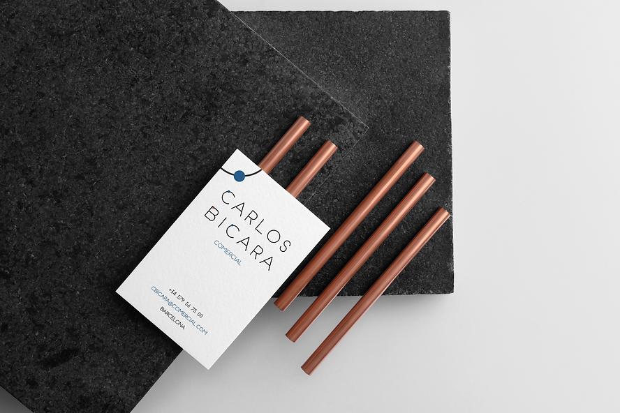 tarjeta de visita diseño barcelona inspirado en Miró