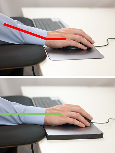 Ergonomic mouse mat