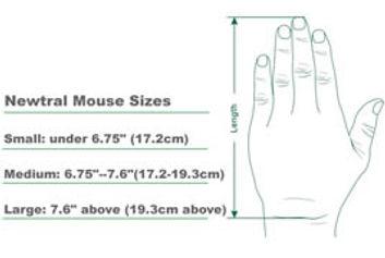 Ergonomic mouse sizes