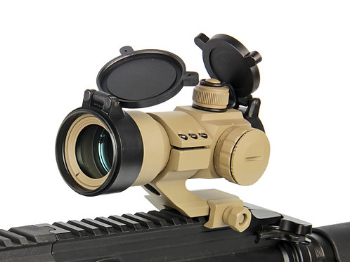 G&G Tactical Red/Green/Blue Dot with Cantilever Weaver Mount (Color: Tan)