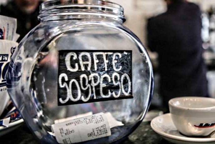 fooi voor caffe sospeso italiaanse traditie koffie