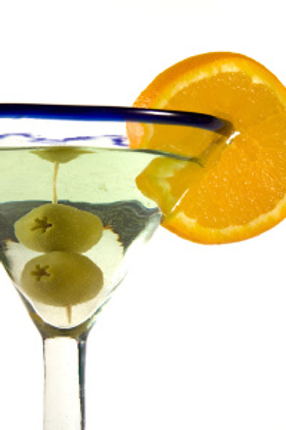 Isolated Martini Glass