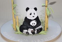 Panda bears birthday cake  (3)